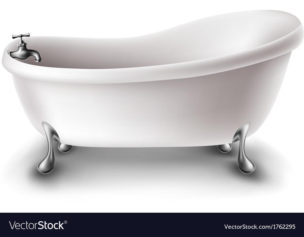 White bathtub vector   Price: 1 Credit (USD $1)