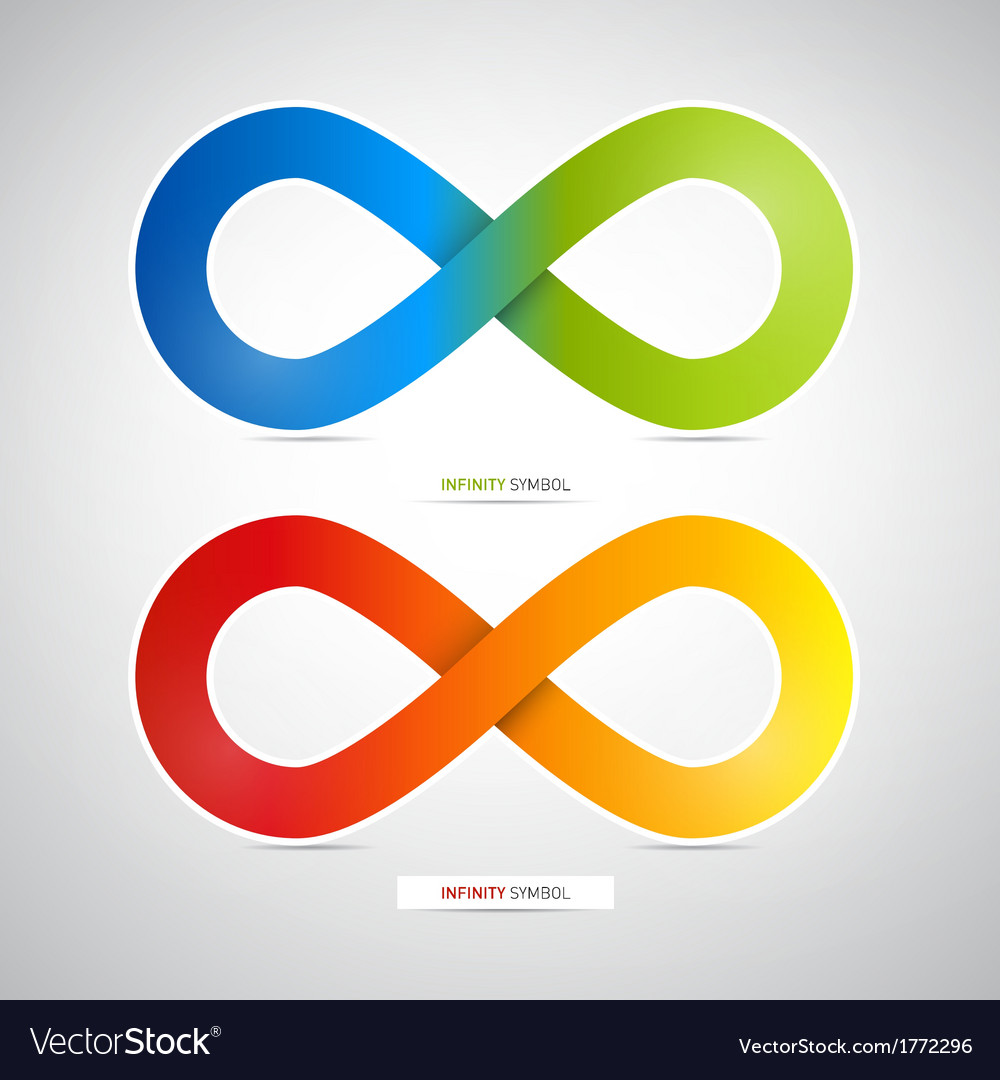 Abstract colorful infinity symbols vector | Price: 1 Credit (USD $1)