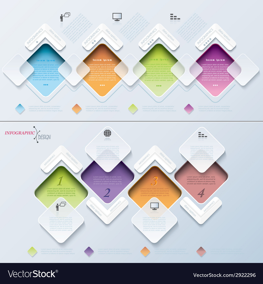 Abstract modern template infographics process vector | Price: 1 Credit (USD $1)