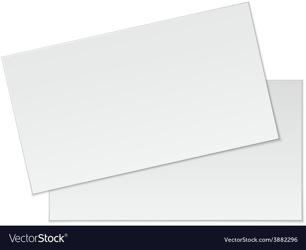 Blank business cards on white background vector | Price: 1 Credit (USD $1)