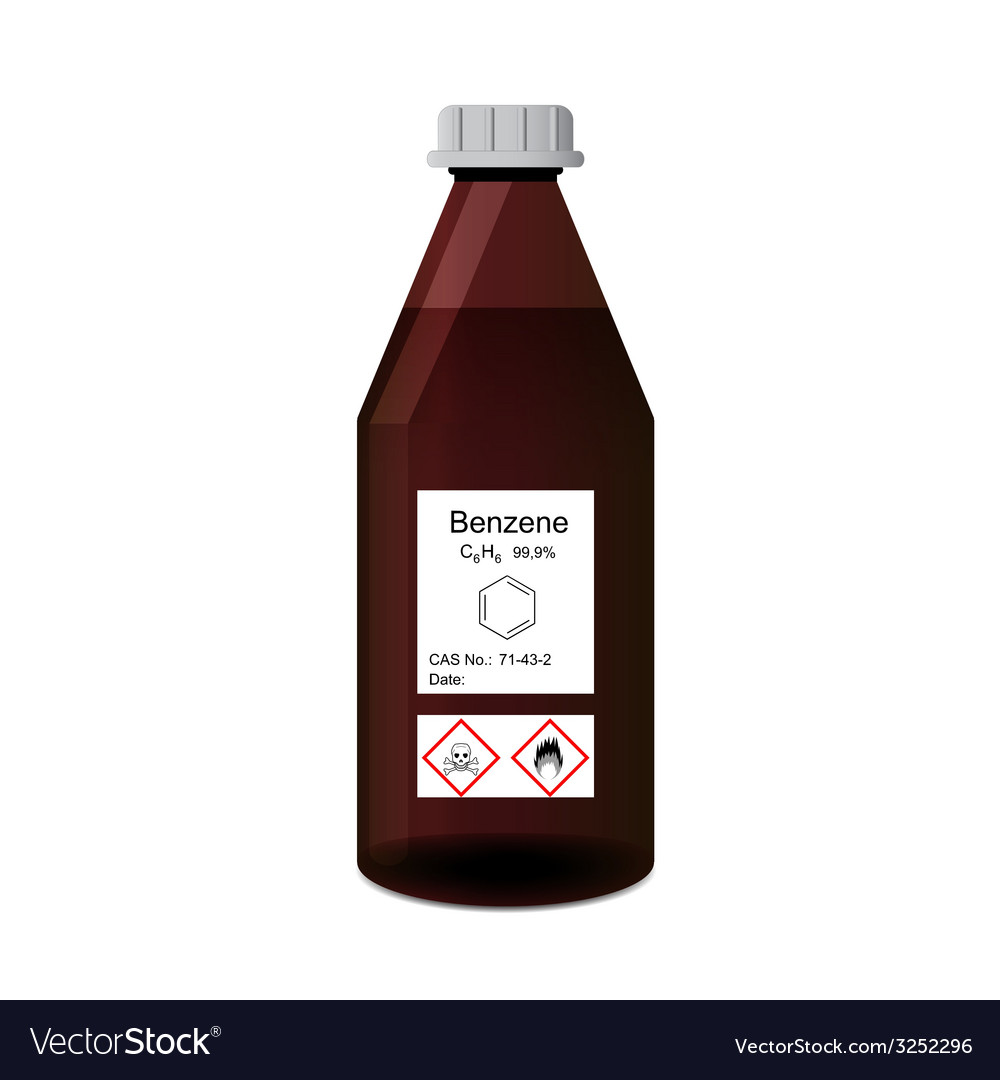 Bottle with chemical toxic and flammable solvent - vector | Price: 1 Credit (USD $1)