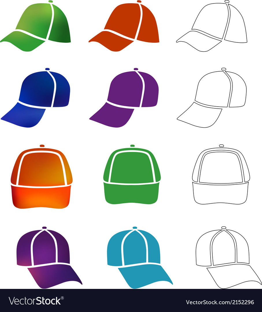 Cap template set vector | Price: 1 Credit (USD $1)