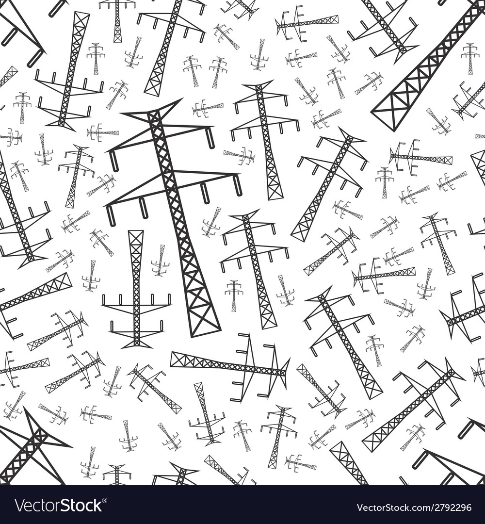 Electricity pole seamless pattern vector | Price: 1 Credit (USD $1)