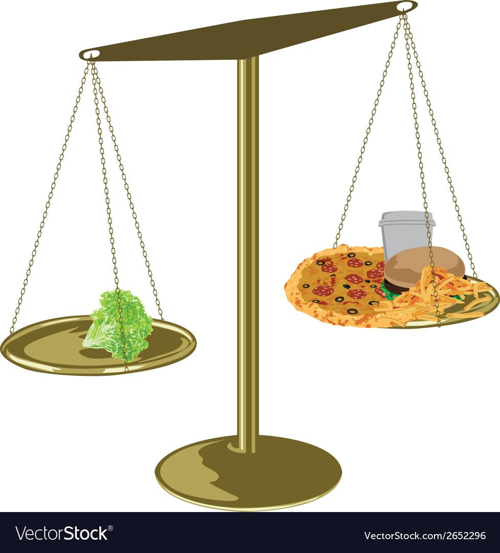 Healthy food scales vector | Price: 1 Credit (USD $1)