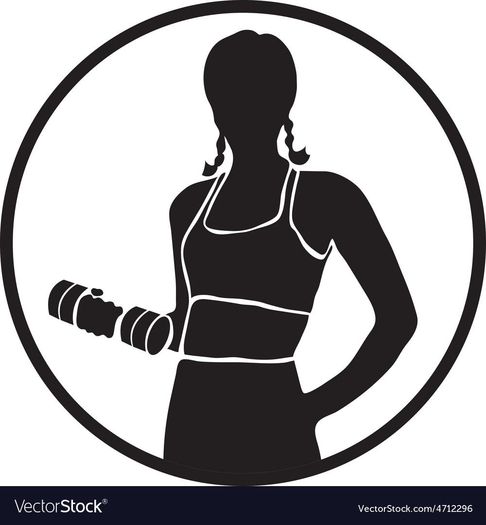 Icon sport women silhouettes vector | Price: 1 Credit (USD $1)