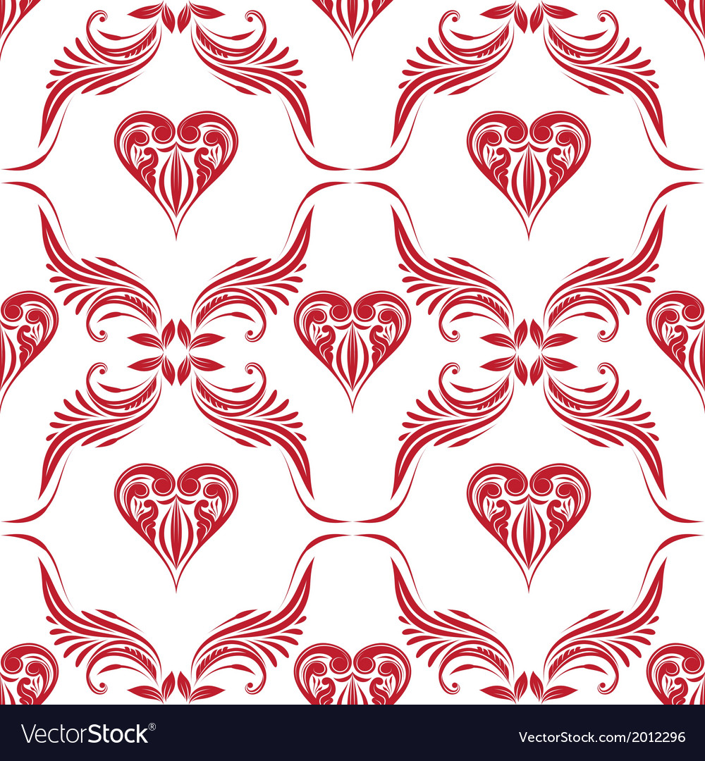 Pattern heart ornamental vector | Price: 1 Credit (USD $1)