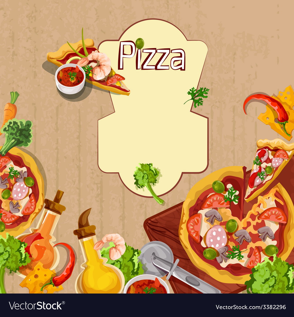 Pizza background template vector | Price: 1 Credit (USD $1)