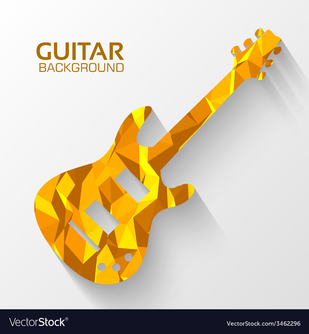 Polygonal electro guitar background concept vector | Price: 1 Credit (USD $1)