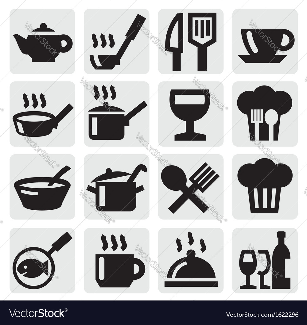 Restaurant cafe and bar icons vector | Price: 1 Credit (USD $1)