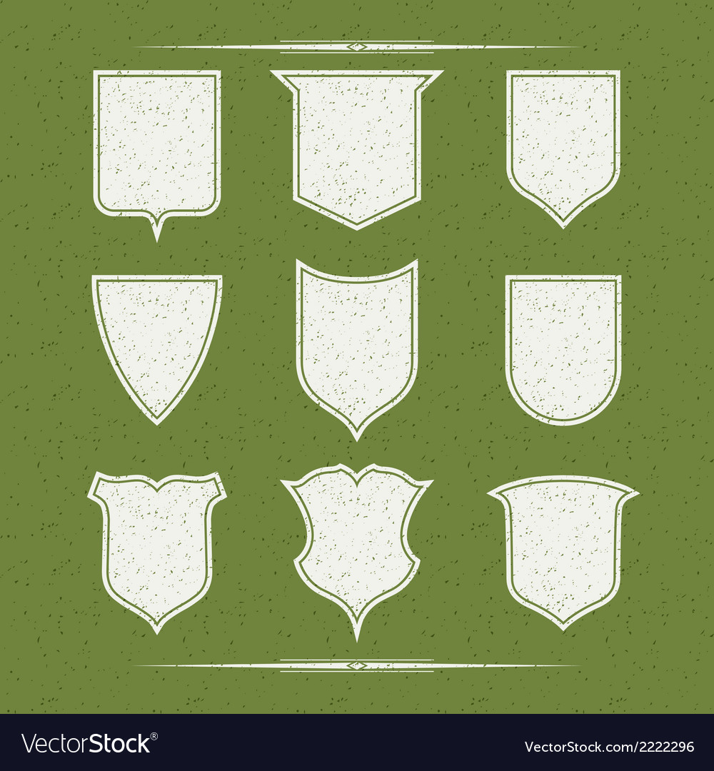 Set of nine different forms of shields vector | Price: 1 Credit (USD $1)