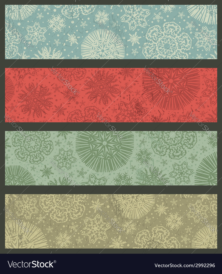 Vintage color christmas banners vector | Price: 1 Credit (USD $1)