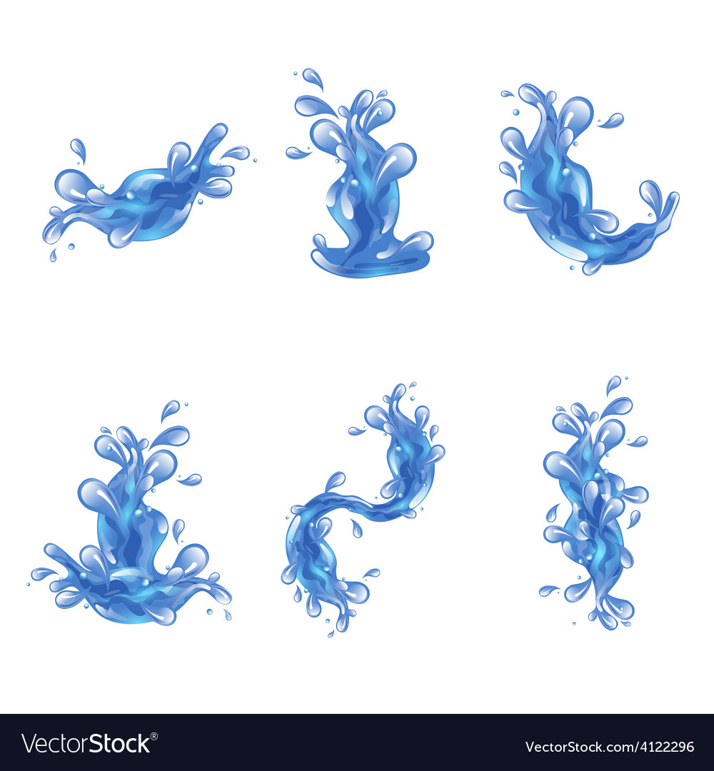 Water splash set vector | Price: 1 Credit (USD $1)