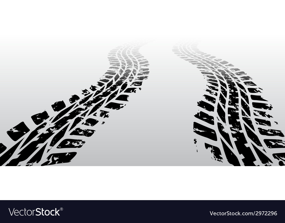 Zig zag tire track vector | Price: 1 Credit (USD $1)