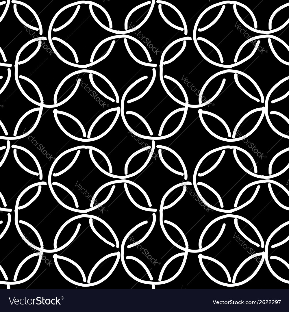 Abstract rings seamless pattern for your design vector