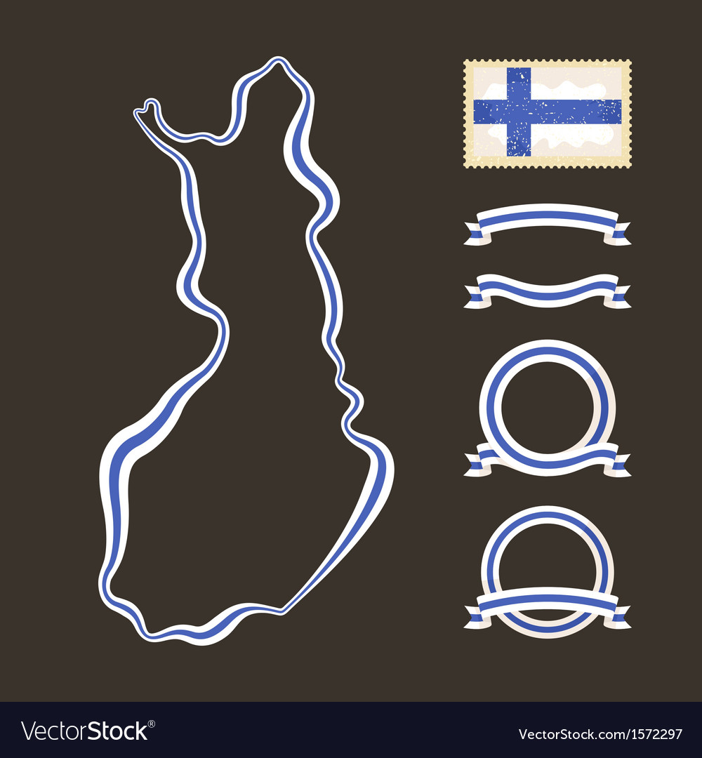 Colors of finland vector | Price: 1 Credit (USD $1)