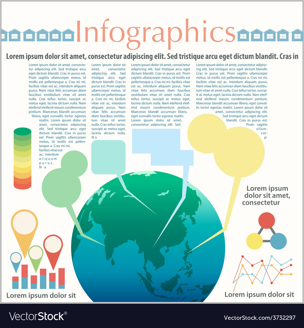 The earths infographics vector | Price: 1 Credit (USD $1)
