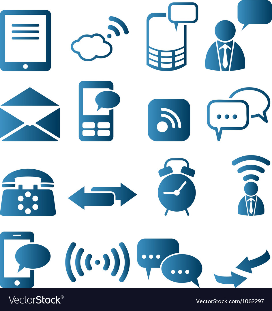 Icon set of telecommunication vector | Price: 1 Credit (USD $1)