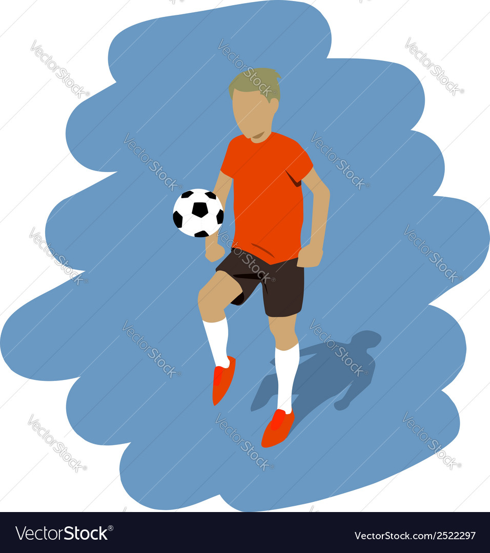 Kicking the ball vector | Price: 1 Credit (USD $1)