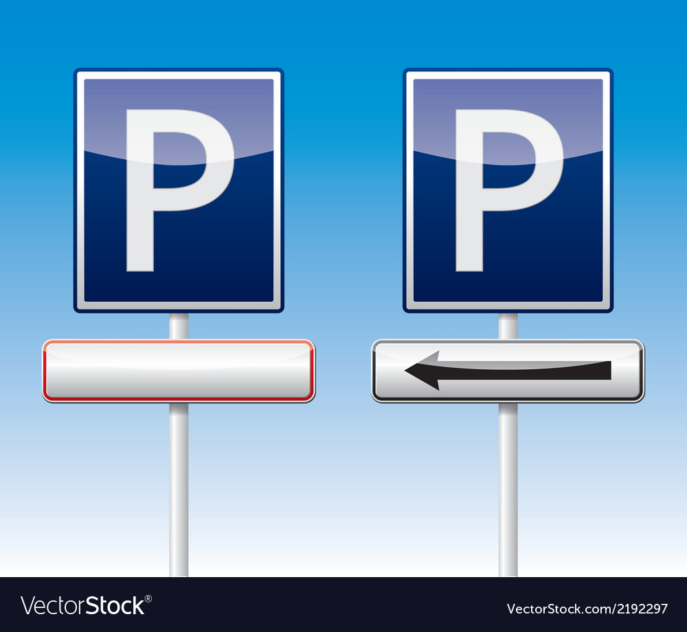 Parking traffic board vector | Price: 1 Credit (USD $1)