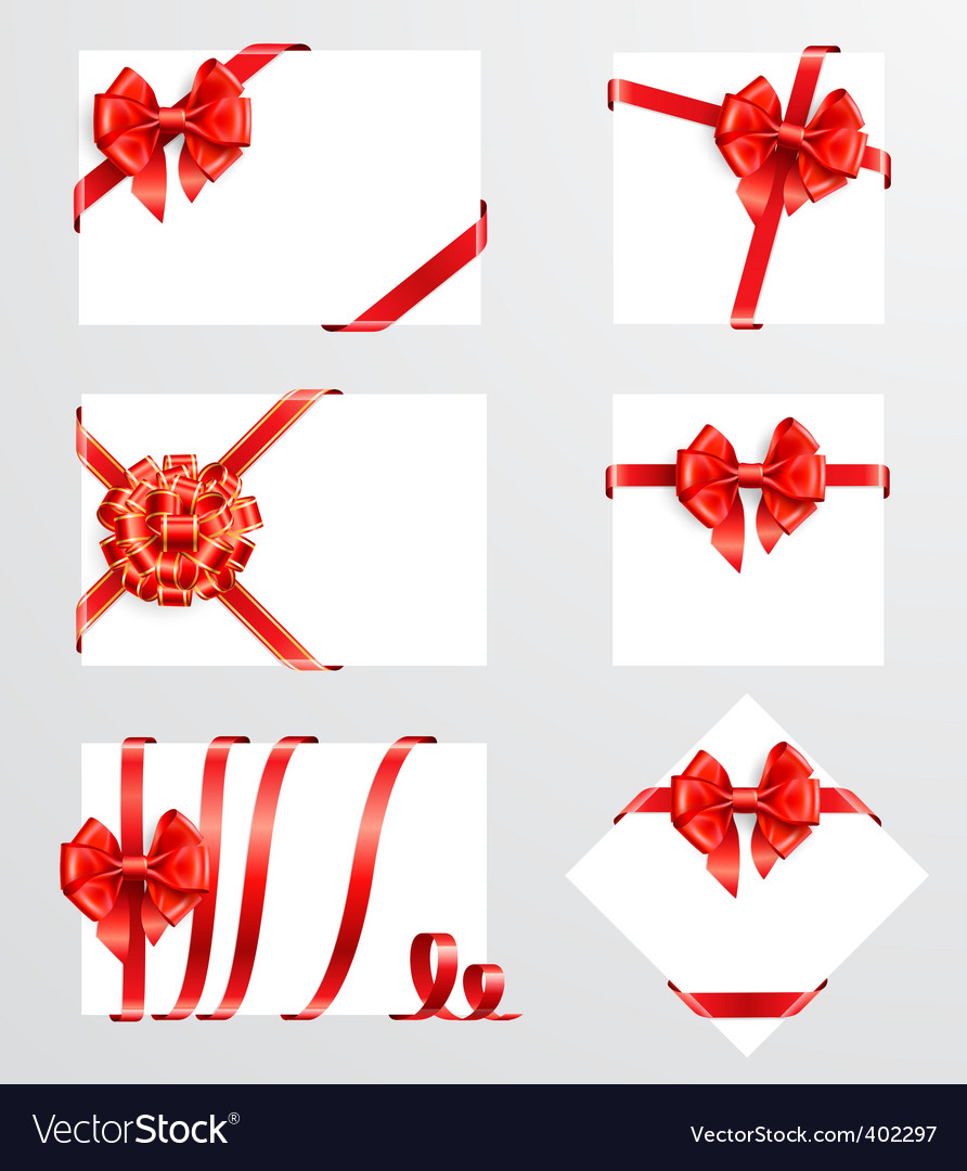 Red bows vector | Price: 1 Credit (USD $1)