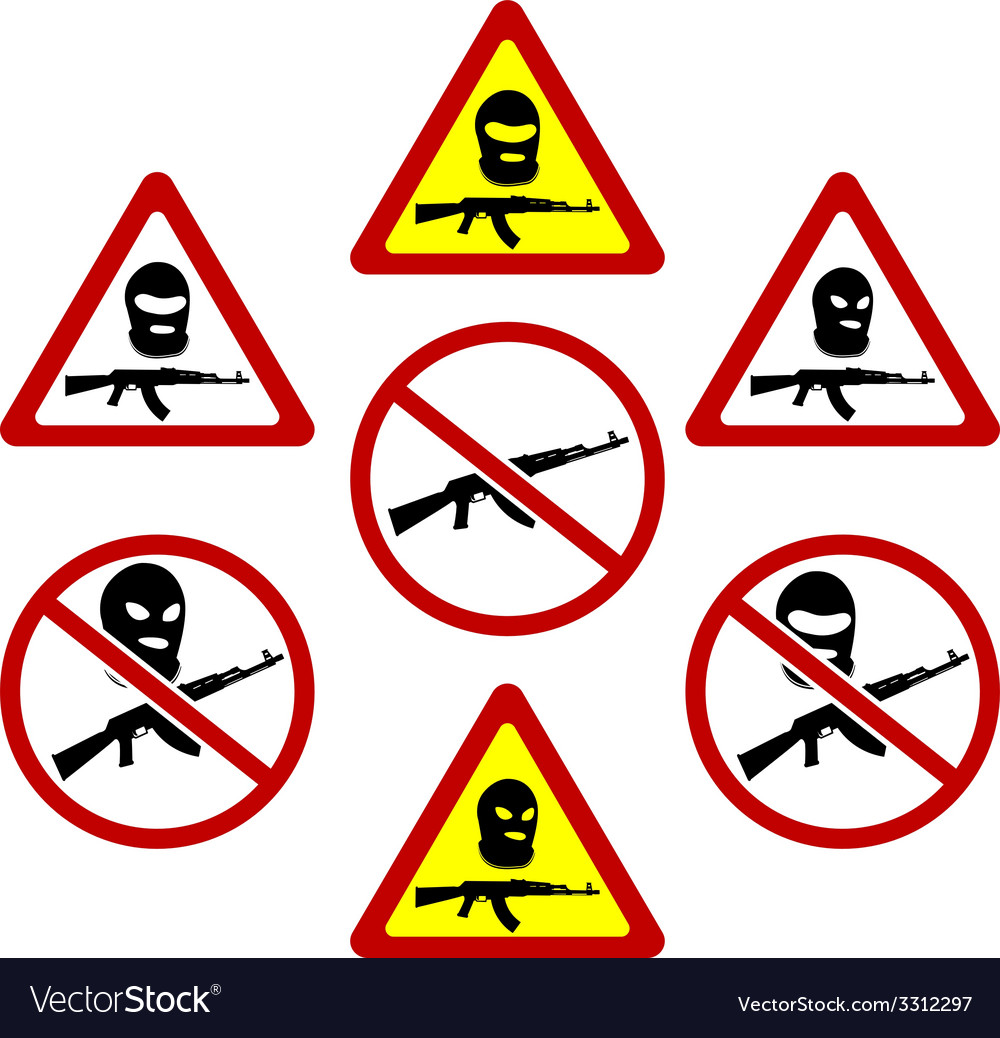 Warning signs of terrorism vector | Price: 1 Credit (USD $1)