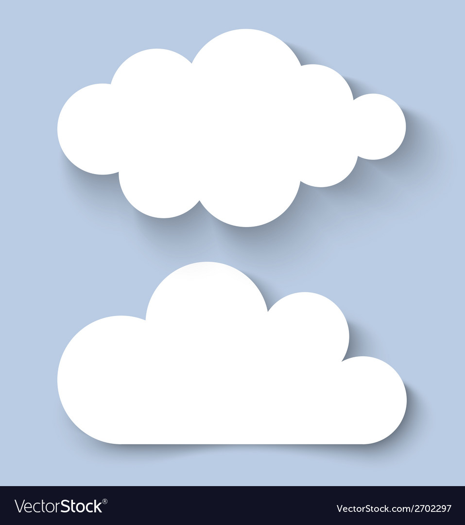 White clouds paper banners for your design vector | Price: 1 Credit (USD $1)