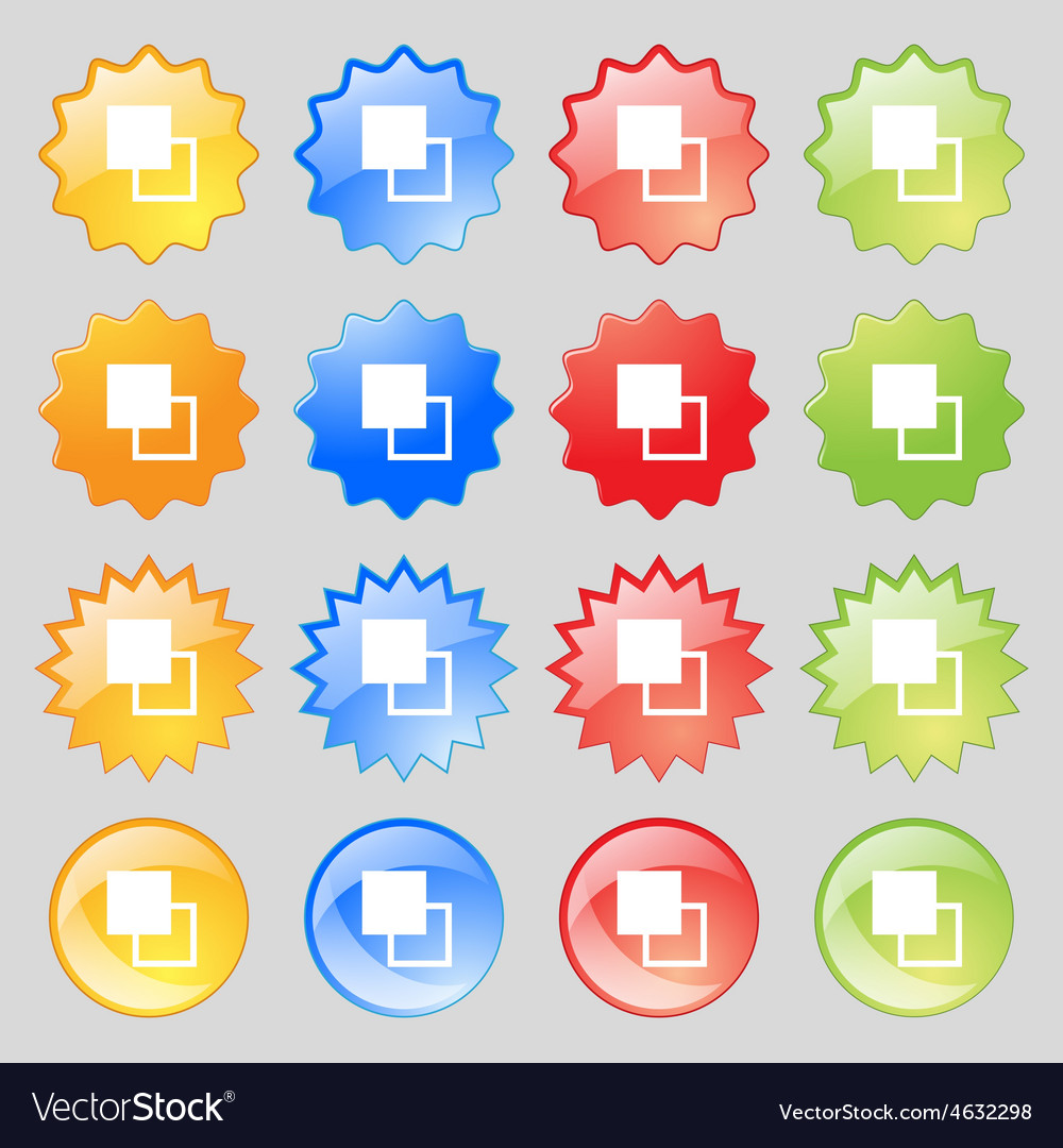 Active color toolbar icon sign big set of 16 vector | Price: 1 Credit (USD $1)