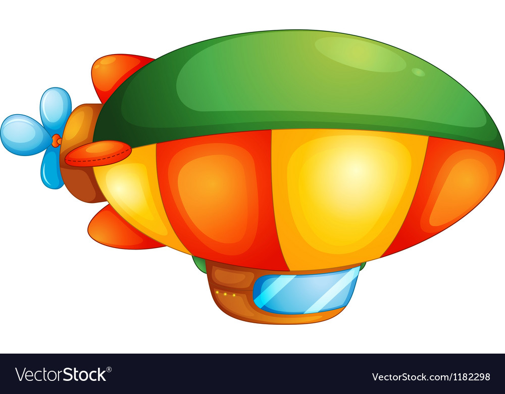 Blimp hot air balloon vector | Price: 1 Credit (USD $1)