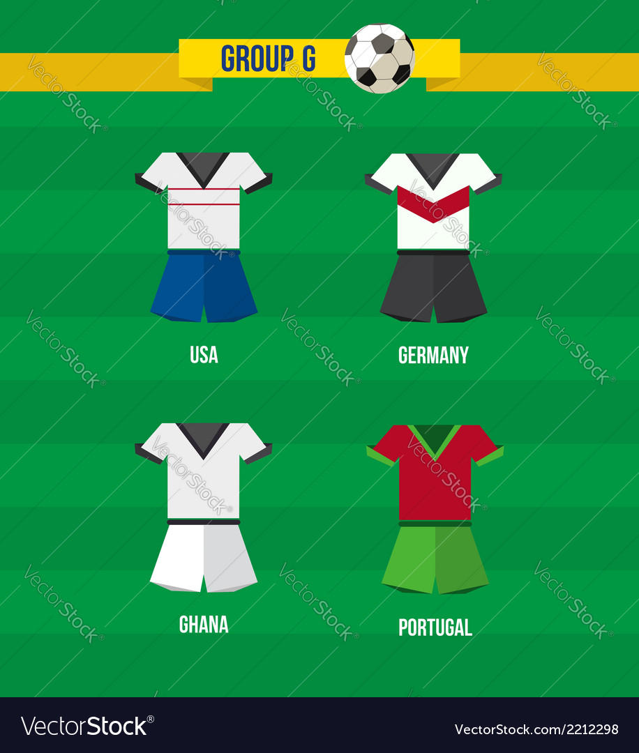 Brazil soccer championship 2014 group g team vector | Price: 1 Credit (USD $1)