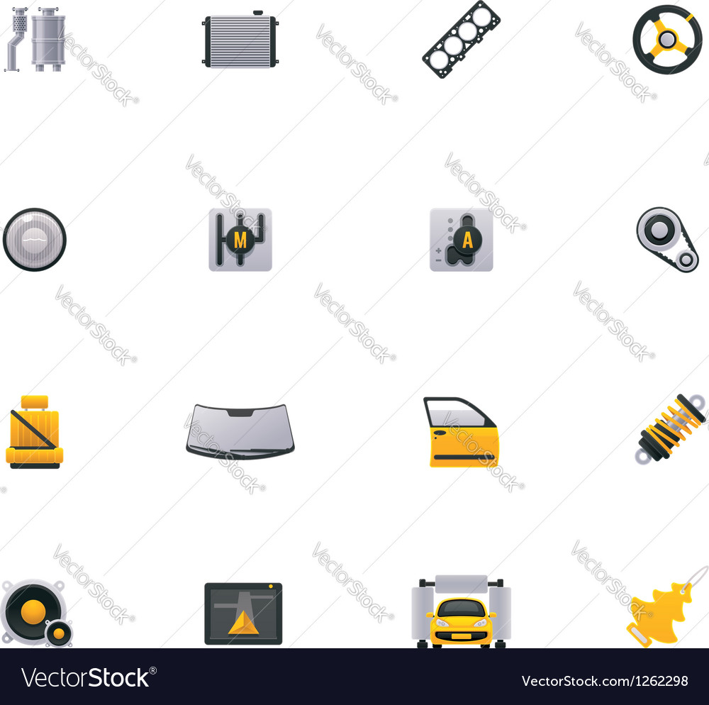 Car service icon set part 2 vector | Price: 3 Credit (USD $3)