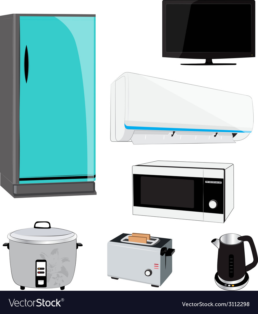 Electric appliance vector | Price: 1 Credit (USD $1)
