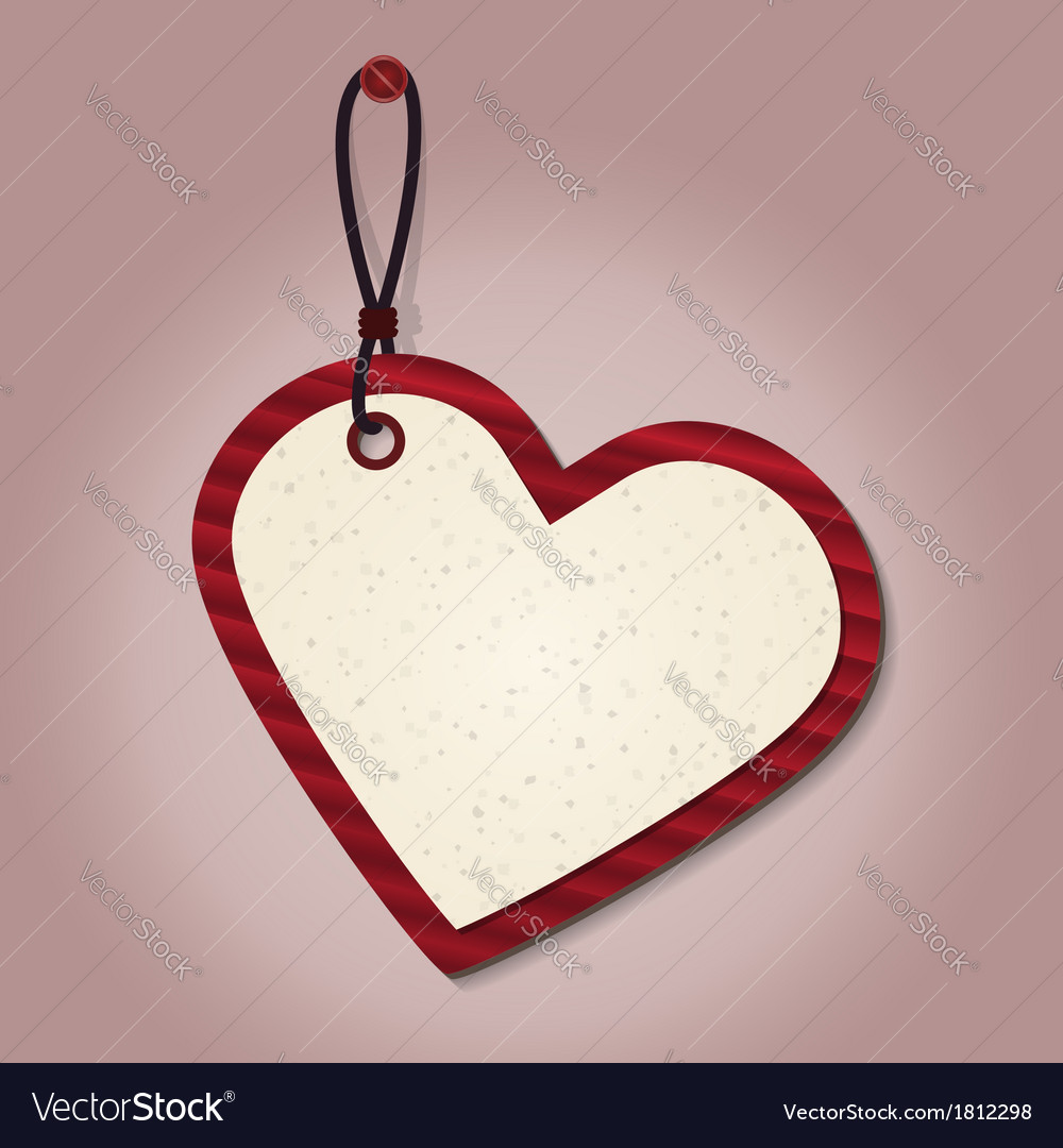 Heart tag vector | Price: 1 Credit (USD $1)
