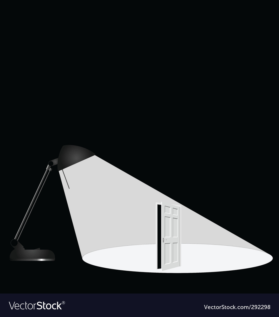 Lamp open door vector | Price: 1 Credit (USD $1)