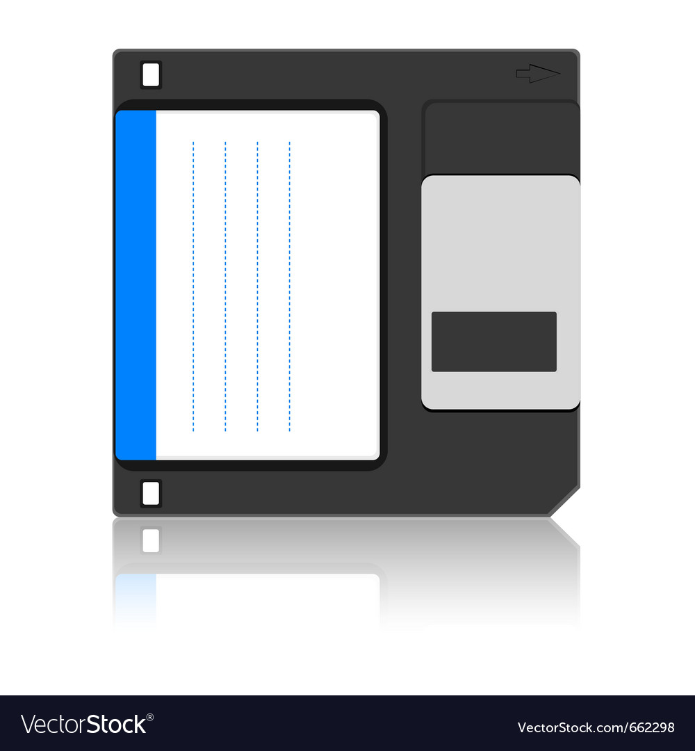 Old floppy disc for computer data storage vector | Price: 1 Credit (USD $1)