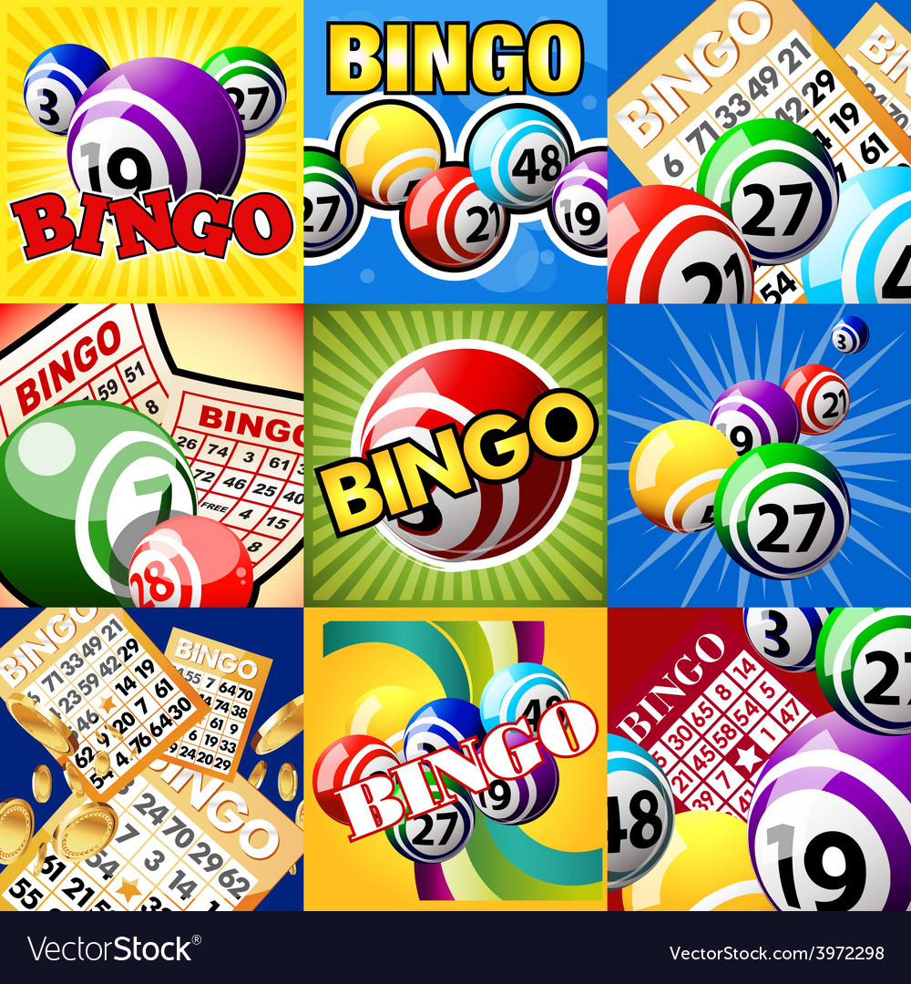 Set of bingo designes vector