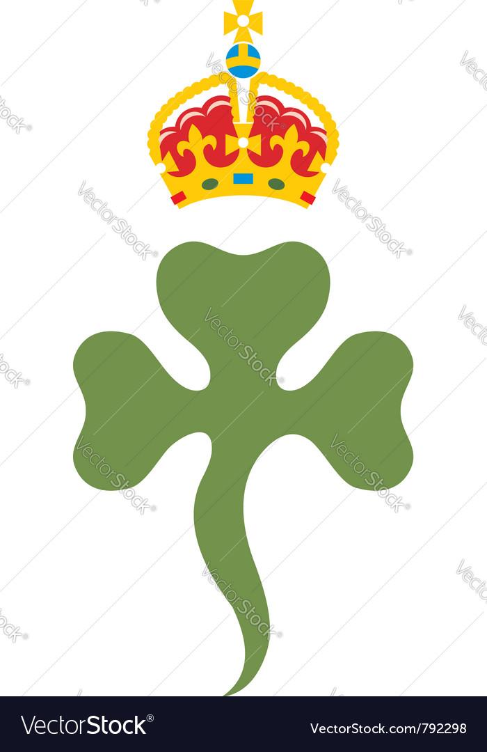 Shamrock royal badge of northern ireland vector | Price: 1 Credit (USD $1)