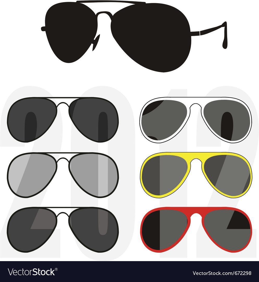 Sunglasses trendy collection vector | Price: 1 Credit (USD $1)