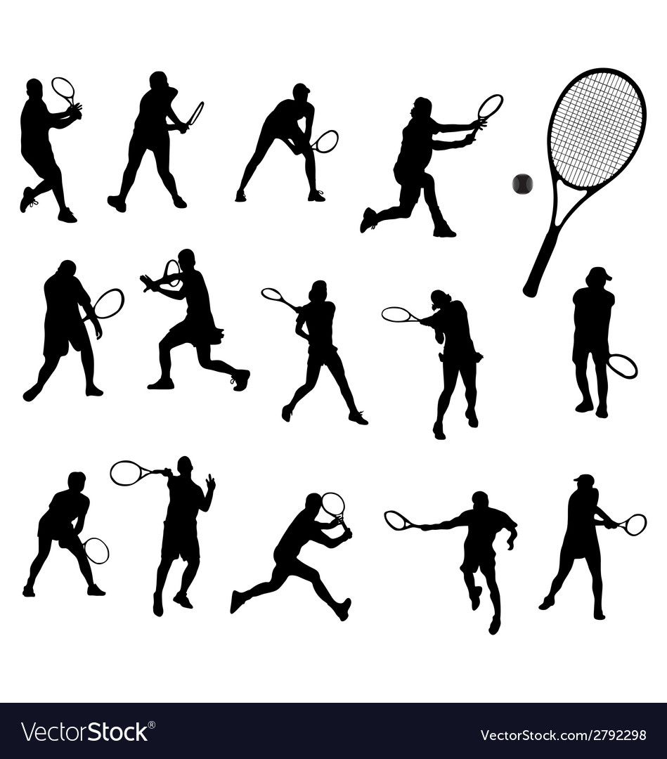 Tennis 2 vector | Price: 1 Credit (USD $1)
