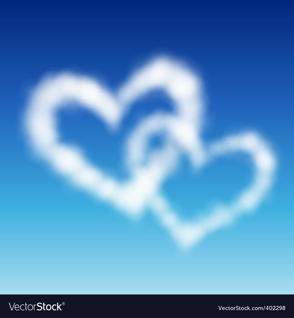 Two heart shaped vector   Price: 1 Credit (USD $1)