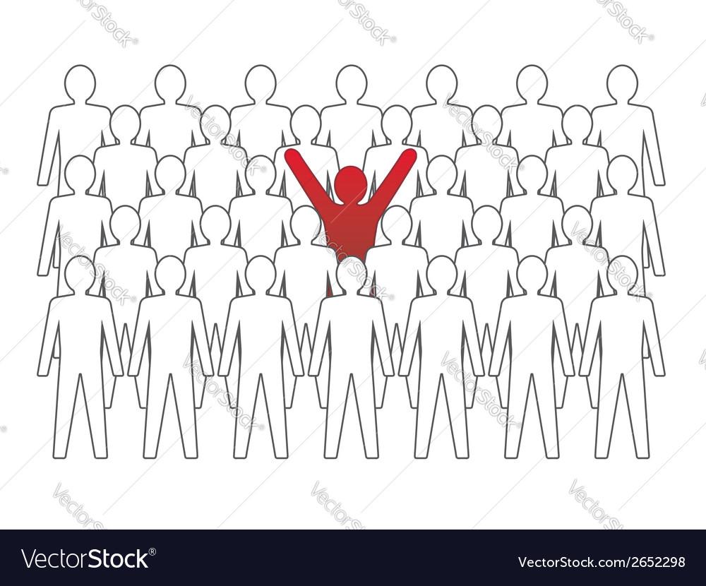 Unusual person in the crowd concept vector | Price: 1 Credit (USD $1)