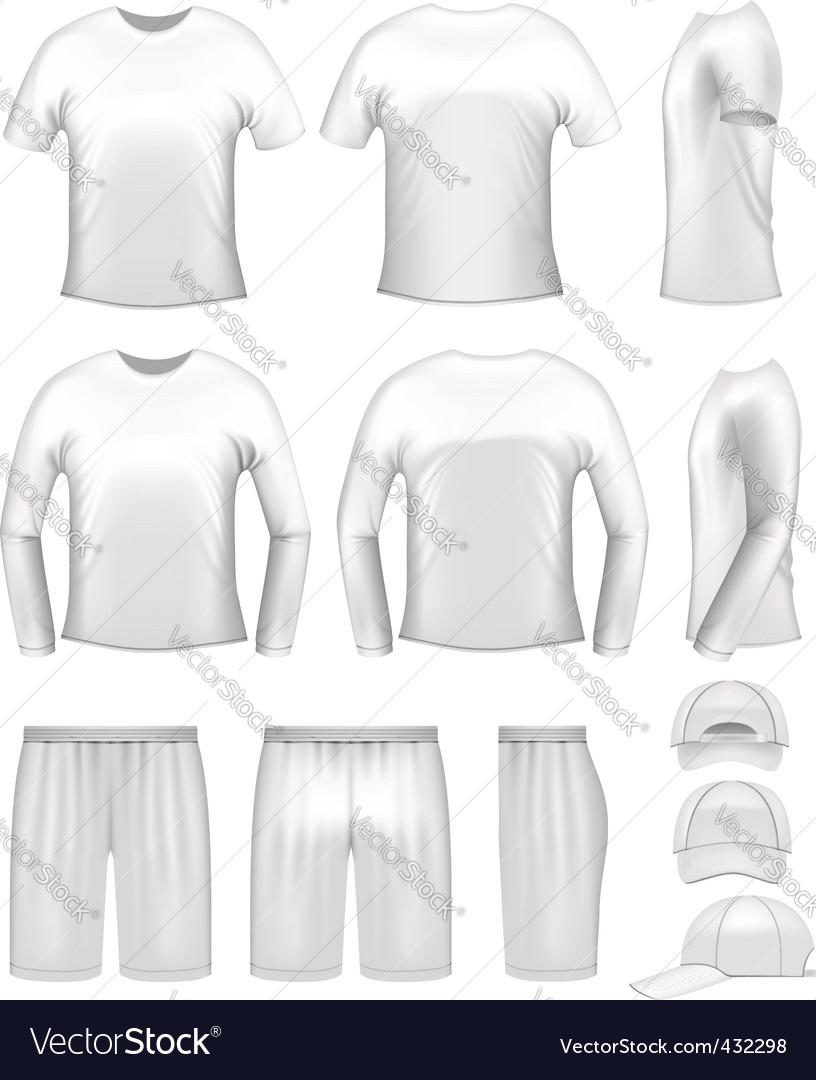 White men's clothing set vector | Price: 1 Credit (USD $1)