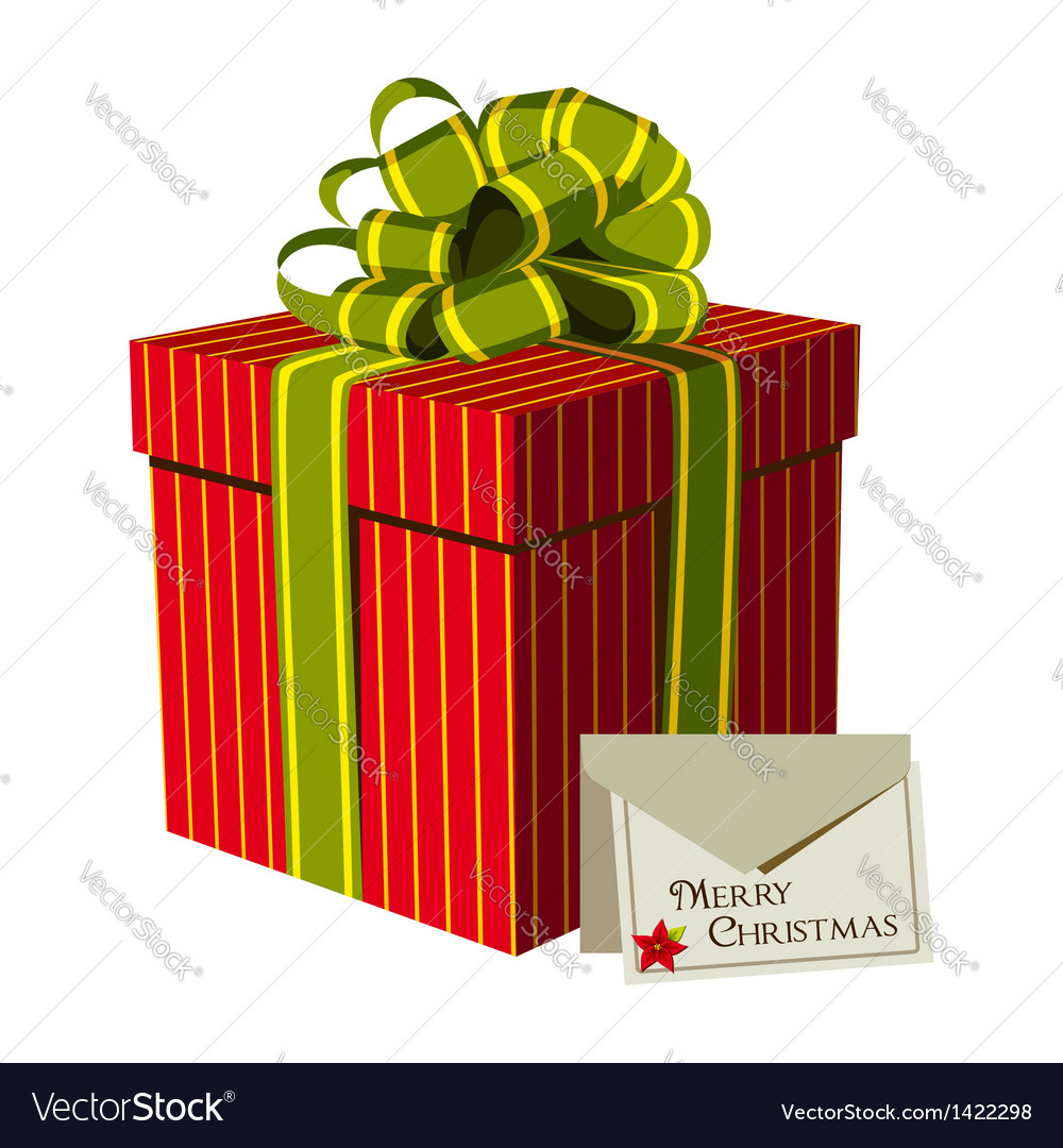 Xmas gift box vector | Price: 1 Credit (USD $1)