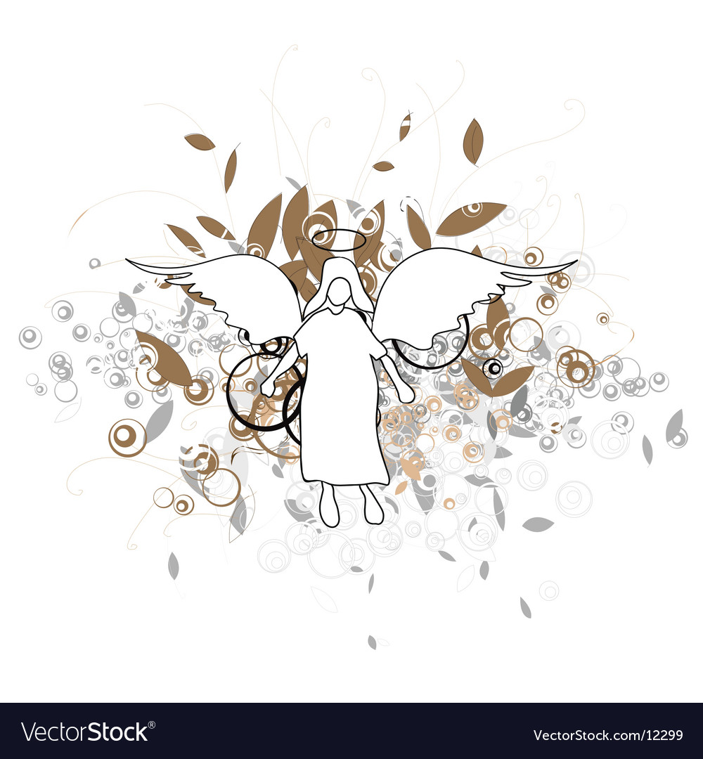 Angel with wings vector | Price: 1 Credit (USD $1)