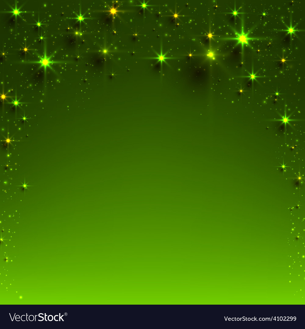Christmas green starry background vector | Price: 1 Credit (USD $1)