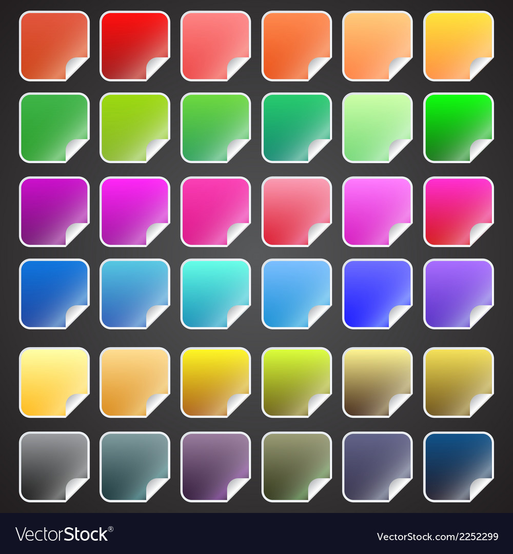 Colorful square buttons vector | Price: 1 Credit (USD $1)