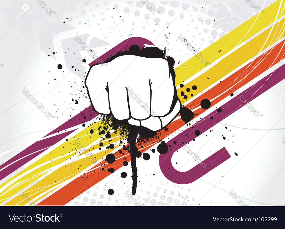 Hand punch vector | Price: 1 Credit (USD $1)