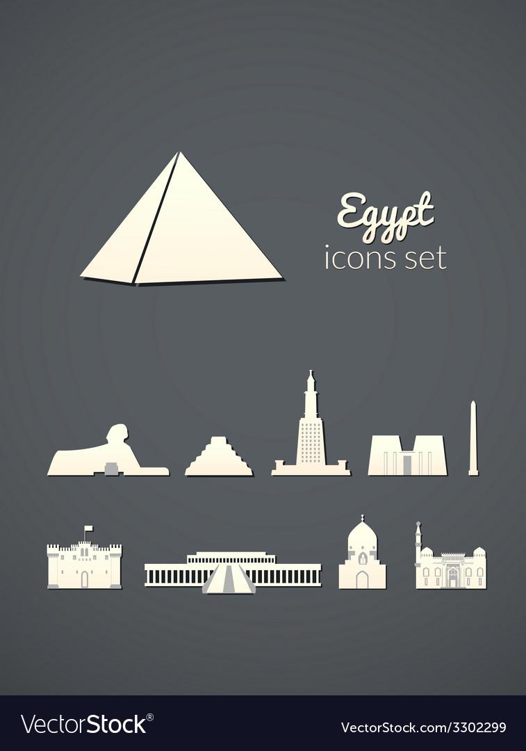 Landmarks of egypt vector   Price: 1 Credit (USD $1)