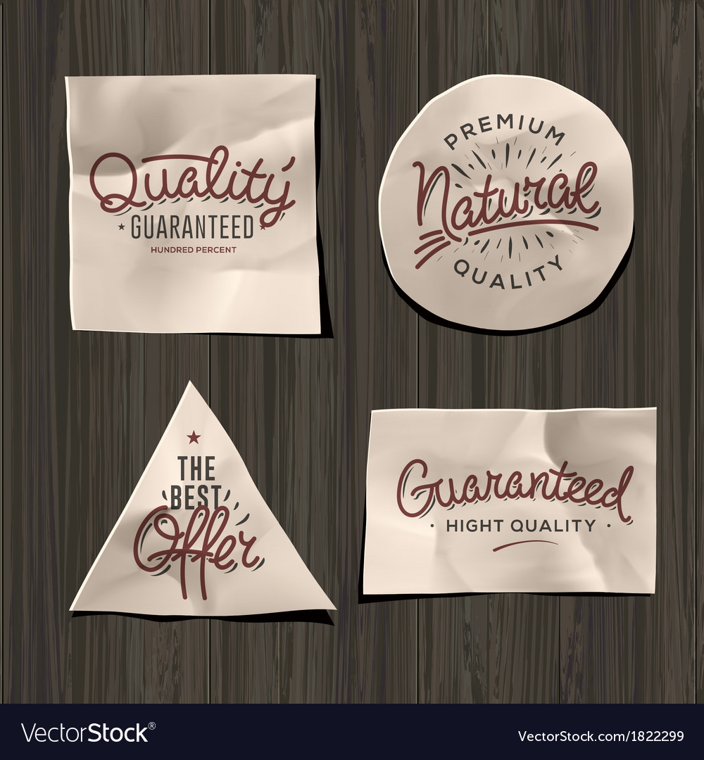 Premium quality craft paper labels vector | Price: 1 Credit (USD $1)