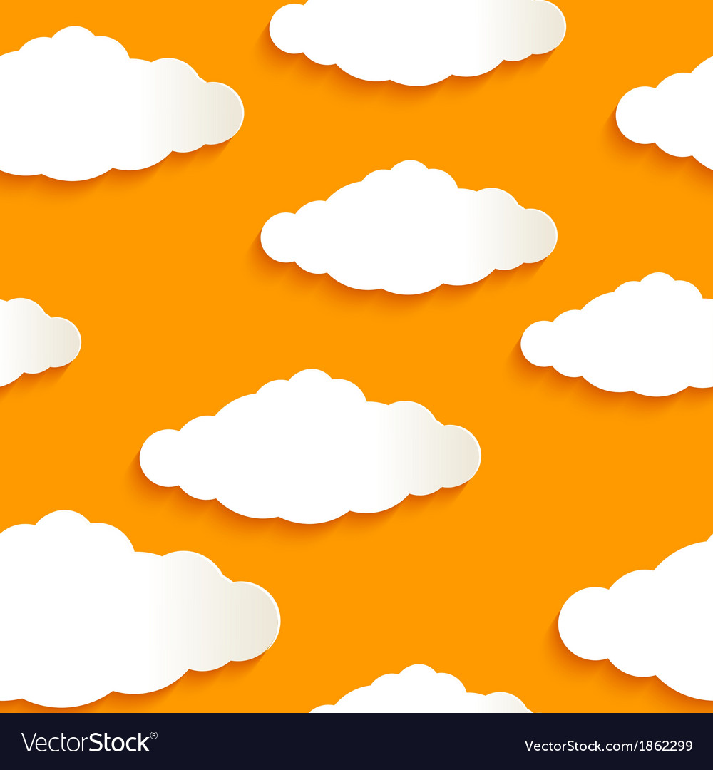 Seamless texture of clouds vector | Price: 1 Credit (USD $1)