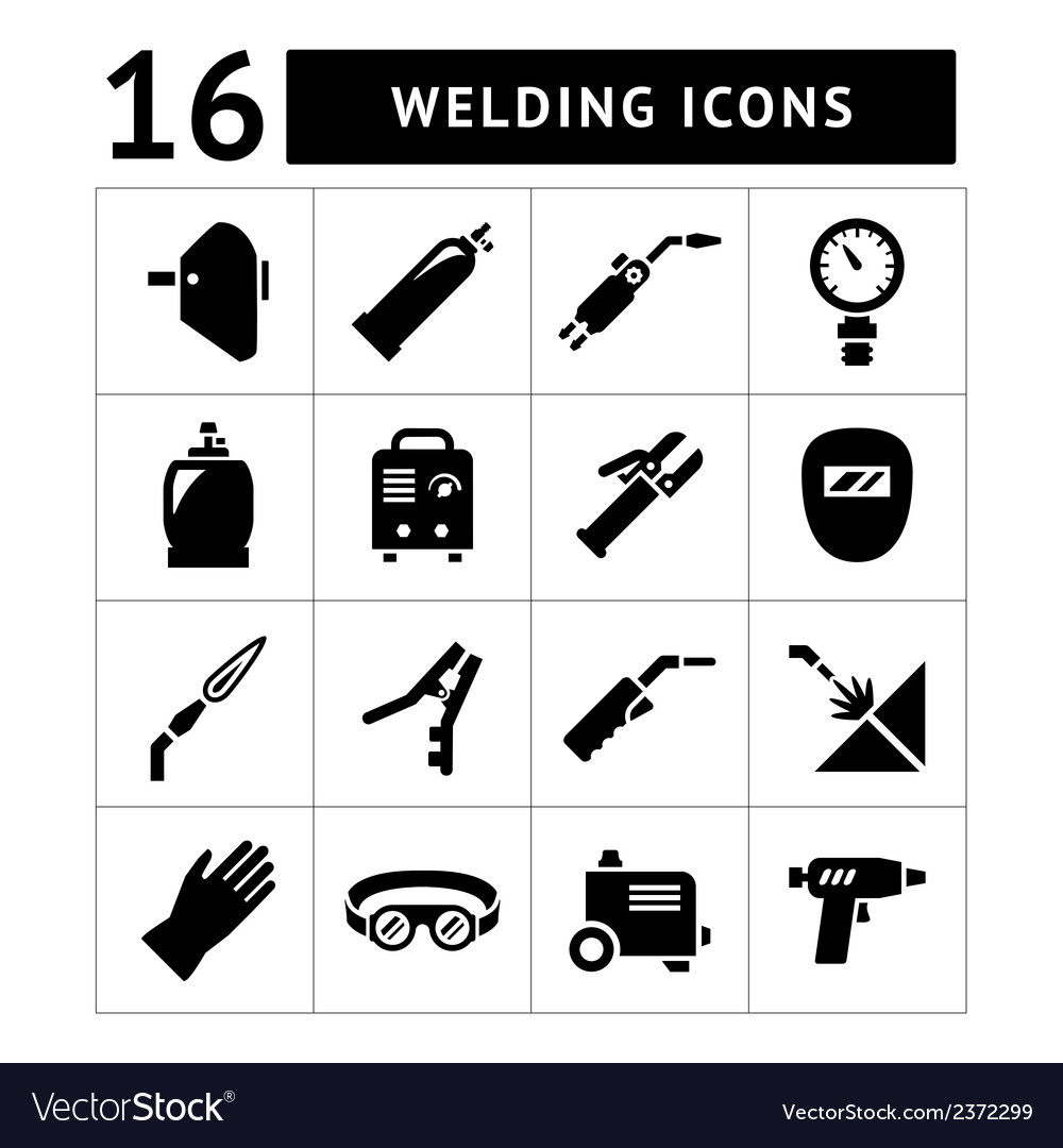 Set icons of welding vector | Price: 1 Credit (USD $1)